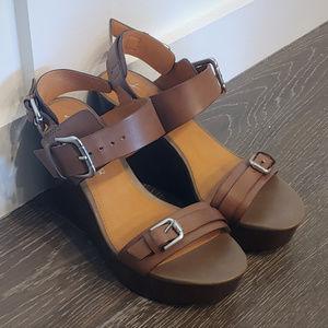 Franco Sarto Wedge Sandal Heels --size 5.5